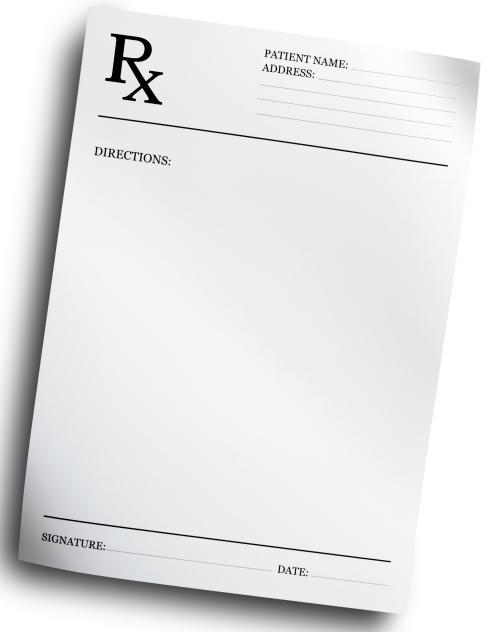 prescription pad template